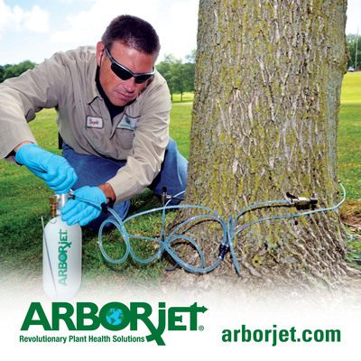 Arborjet's leading-edge tree trunk injection treatments saved the U.S. economy over $714 million and over 850,000 trees in 2012.  (PRNewsFoto/Arborjet)