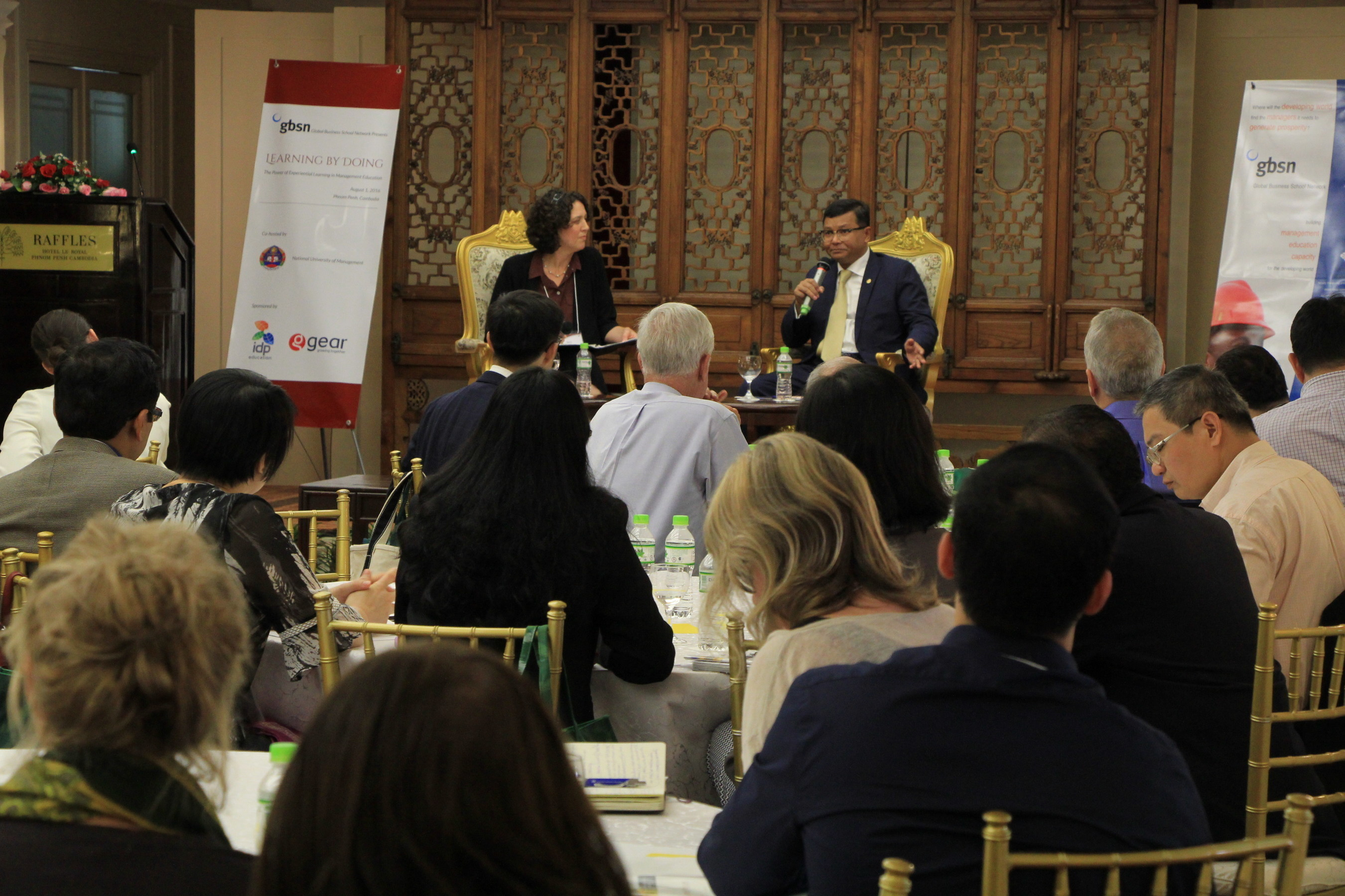 Kerry Laufer, Tuck School of Business at Dartmouth interviews H.E. Dr. Hang Chauon Naron, Minister of Education Youth and Sport, Cambodia for the Keynote Discussion