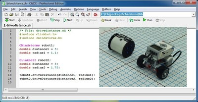 Controlling a Lego Ev3 and Linkbot by a single Ch Program