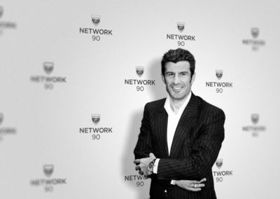Luís Figo, Uefa Ambassador and Founder of Network90.com. (PRNewsFoto/Network90.com)