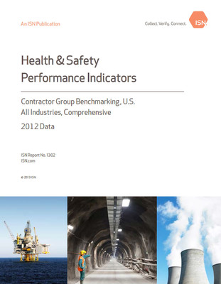 ISN's second installment of its three-part series of Health & Safety Performance Indicators publications for 2013 was released today. The Contractor Group Benchmarking Report compares aggregated and verified performance data from 25,000 U.S. companies collected from ISN's leading contractor management database, ISNetworld. The analysis and key performance indicators presented are summarized by both the North American Industry Classification System (NAICS) codes and by ISN Work Types for an additional level of granularity. To request your copy, visit www.ISN.com.  (PRNewsFoto/ISN)