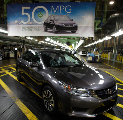 Meet the 50 MPG Rated Honda Accord Hybrid. (PRNewsFoto/American Honda Motor Co., Inc.)