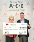 ACE Cash Express CEO Jay Shipowitz with National Breast Cancer Foundation Founder and CEO Janelle Hail.