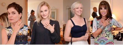 Celebrities and Stylists Wearing Jewelry from the Diamonds with a Story Collection at the StyleLab Suite During Emmy Awards Week - From Left to Right: Betsy Brandt, Madeline Brewer, Emily Bergl, and Kate Linder (PRNewsFoto/StyleLab)