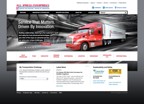 U.S. Xpress Enterprises Launches New Website to Better Serve Customers, Drivers and Employees