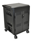 New Ergotron PowerShuttle(TM) Laptop Charging and Management Carts provide organized and secure storage, charging and syncing of laptops, netbooks and tablets.  (PRNewsFoto/Ergotron, Inc.)