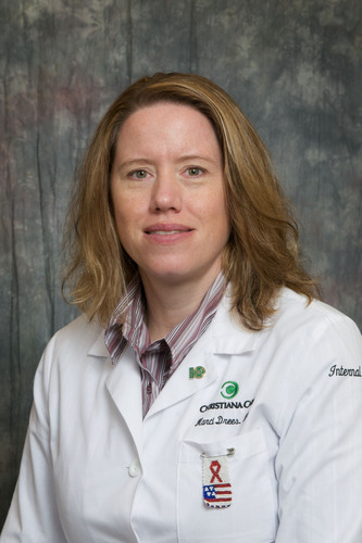 Marci Drees, M.D., Hospital Epidemiologist and Medical Director of Infection Prevention at Christiana Care ...