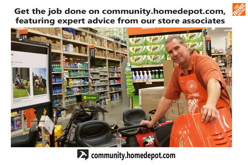 Find Home Depot's online How-To Community at community.homedepot.com.  (PRNewsFoto/The Home Depot)