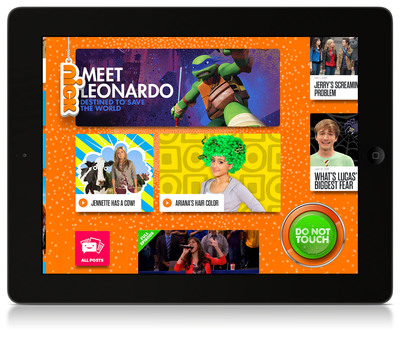 "Nickelodeon Launches The ""Nick App"" New Interactive Platform For iPad."