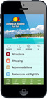 The new Go Dominican Republic travel app for iPhone and Android offers useful offline information about shopping, restaurants, events, accommodations, attractions and much more! Available in the Apple App Store and Google Play.  (PRNewsFoto/Dominican Republic Ministry of Tourism)