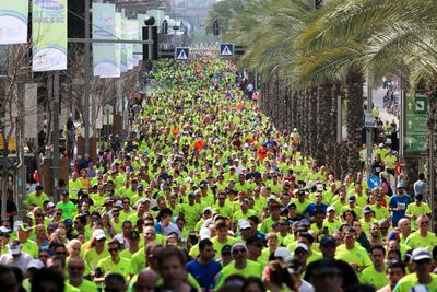 Tel Aviv Marathon 2015 kicks off February 26th. Credit: Ronen Topelberg. (PRNewsFoto/Tel Aviv Marathon)