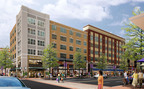 JBG Rosenfeld Retail and The Bozzuto Group have closed a $28 million deal on Downtown Crown, a 20-acre, mixed-use centerpiece to the Crown development in Gaithersburg, Md. JBGR will be developing 260,000-square-feet of dining and retail space. Bozzuto purchased the rights to build 538 multifamily units above the retail component. Photo courtesy of JBG Rosenfeld Retail.  (PRNewsFoto/The Bozzuto Group)