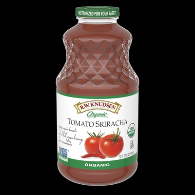 R.W. Knudsen Family(R) announces the launch of five new vegetable juice blend and beverage varieties including Organic Tomato Sriracha available at natural and conventional retailers.