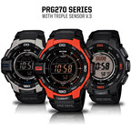 Casio's PRO TREK PRG270 Series with Triple Sensor V.3 Technology.