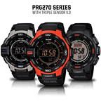 Casio's PRO TREK PRG270 Series with Triple Sensor V.3 Technology.