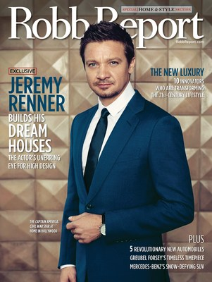 Jeremy Renner Fronts May Edtion of Robb Report Magazine