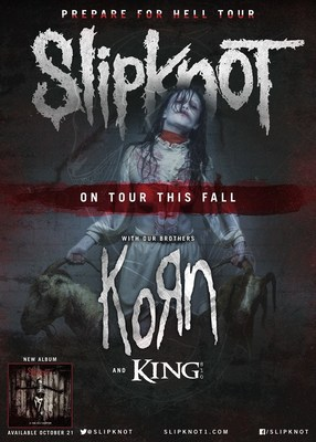 SLIPKNOT ANNOUNCES NORTH AMERICAN TOUR. (PRNewsFoto/Live Nation Entertainment)