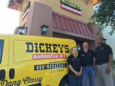 Owner/Operators Donna Martin, Tom Emmons and Jeremy Steele open Dickey's Barbecue Pit in Chandler this Thursday