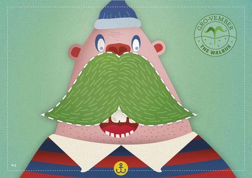 "One of the Gro-vember âeuro˜moâeuro(TM) templates âeuro"" The Walrus (PRNewsFoto/Scots Miracle Gro)"