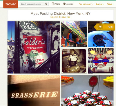Consumers tap Trover's fresh, local travel content when seeking interesting things to see and do.  (PRNewsFoto/Trover Inc.)