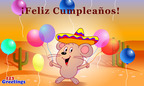 Birthday wishes in Spanish!  (PRNewsFoto/123Greetings.com, Inc.)