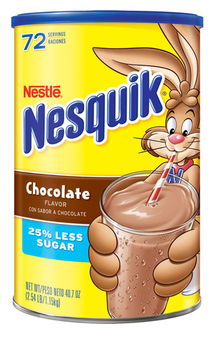 Nestle NESQUIK(R) Chocolate Powder 40oz Canister.  (PRNewsFoto/Nestle USA)