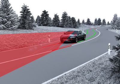 TRW's Lane Keeping Assist System with closed loop control aides drivers in helping to prevent unintended lane and road departures.  (PRNewsFoto/TRW Automotive Holdings Corp.)
