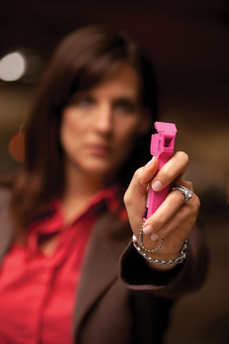 A recent consumer survey found that 68% of female pepper spray owners said they bought it for themselves.  More pepper spray owners own Mace brand pepper spray than all other brands combined.  (PRNewsFoto/Mace Security International)