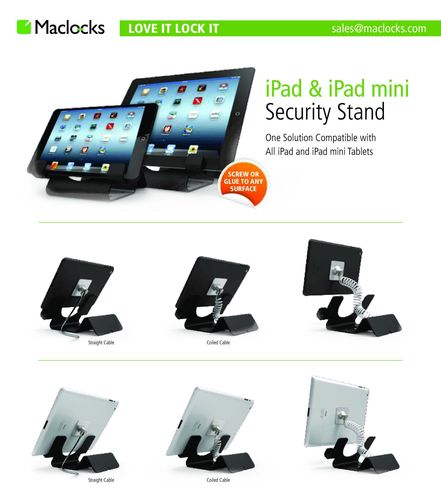Maclocks New Universal Tablet Security Holder is the Ultimate Display Solution