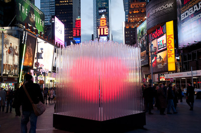 Think Energy Shows Heart, Sponsoring Times Square Valentine Sculpture and Donating to Pediatric Cancer Research at Columbia