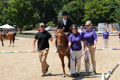 Rachel competing in the Riders with Disabilities Competition at The Chagrin Valley Hunter Jumper Classic in ...