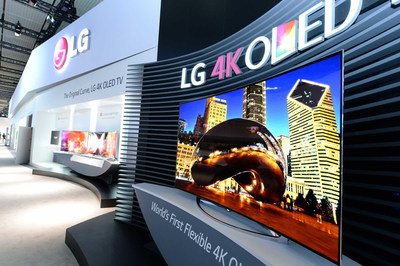 LG's Flexible 77-inch 4K OLED TV was named a 2015 CES Innovation Awards Honoree in the Video Displays category.