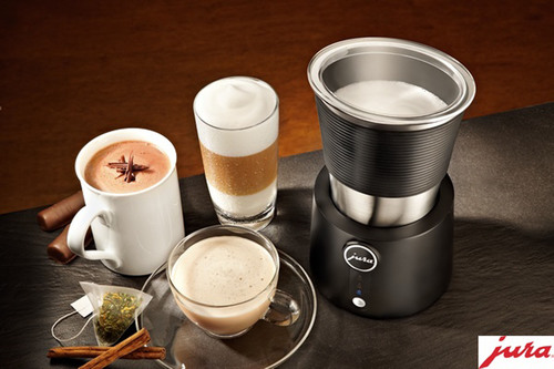 Jura Automatic Milk Frother prepares perfect cold milk foam for summer drinks.  (PRNewsFoto/Jura)