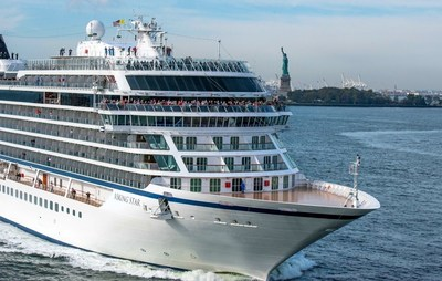 Viking Star, the first 930-passenger ocean ship from Viking Cruises, sails past the Statue of Liberty on Thursday, Oct. 13, 2016 as it calls on New York for the first time. Currently sailing its inaugural North American itinerary, Viking Star will continue onto the Caribbean where it will cruise during the winter season. For more information, visit www.vikingoceancruises.com.