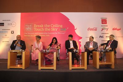 From left: Annurag Batra, Chairman and Editor-in-Chief, BW Businessworld and exchange4mediagroup; Rekha Menon, Chairman, Accenture in India; Sangeeta Pendurkar, Managing Director, Kellogg India; Venkatesh Kini, President, Coca-Cola India and Southwest Asia; Al Rajwani, Managing Director and CEO, P&G India  and Sam Balsara, Chairman, Madison World.