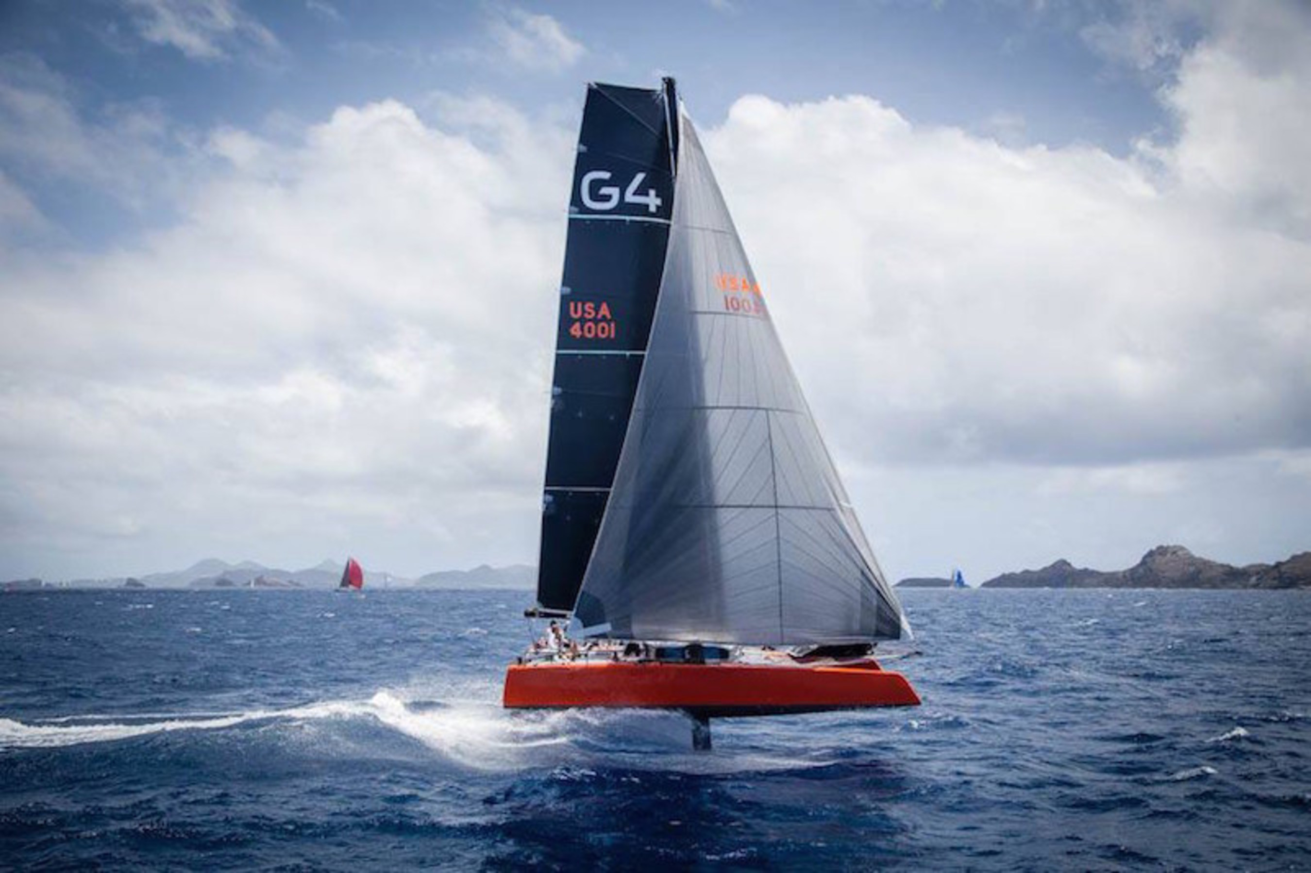 A First: Luxury 70-foot Catamaran with New Hydrofoil Technology