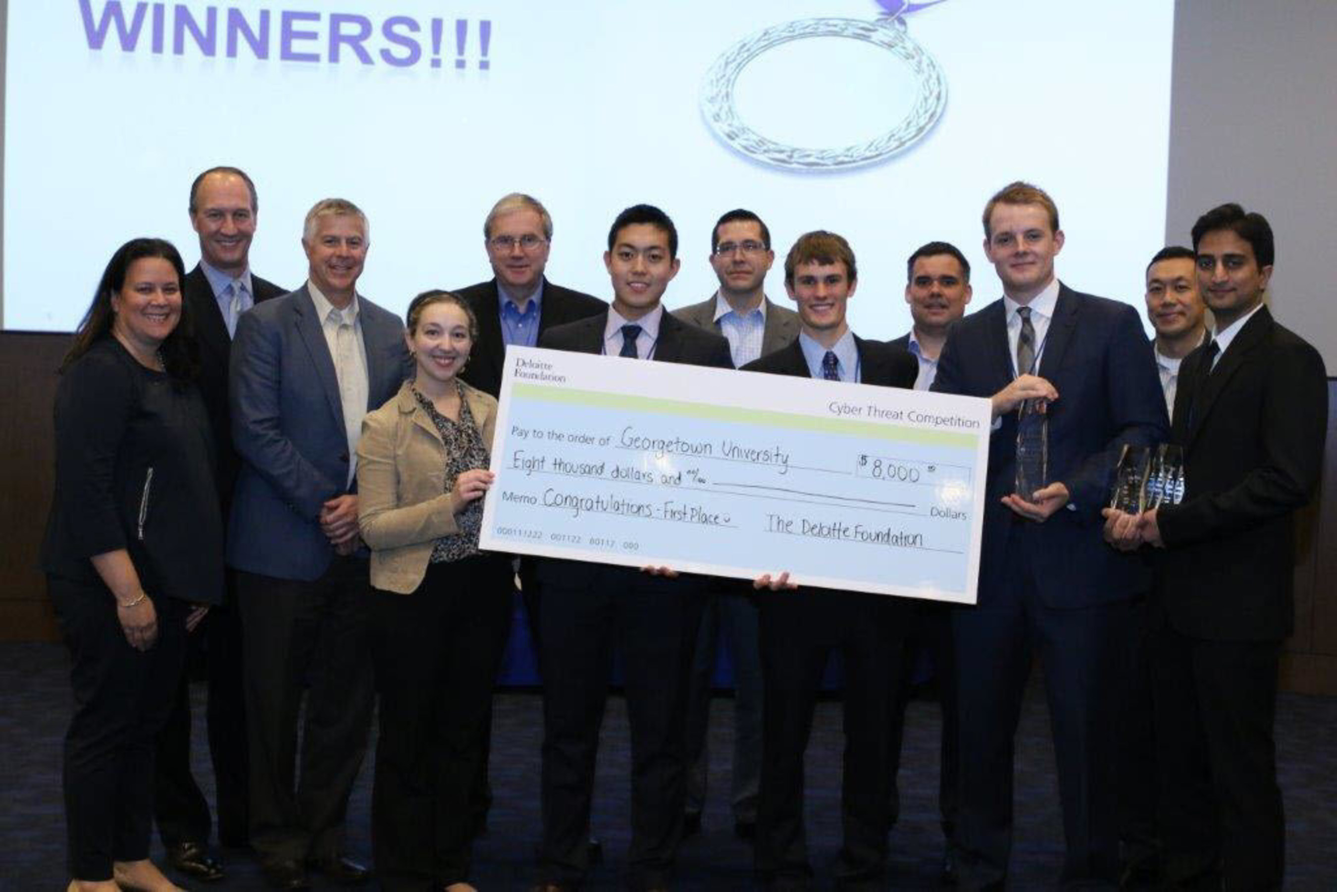 Georgetown University Wins Deloitte Foundation Cyber Threat Competition