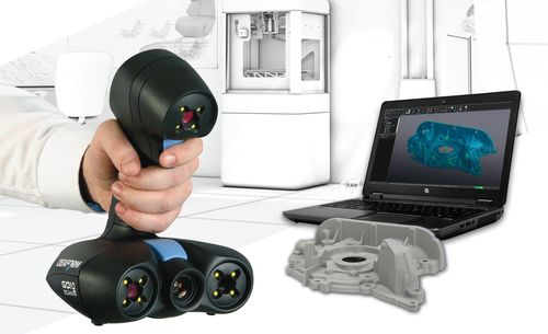Creaform's new Go!SCAN 3D white-light handheld 3D scanners and VXmodel software provide the ideal, fully integrated, professional-grade solution to capture real-world objects and send them to any 3D printer or CAD software. (PRNewsFoto/Creaform)