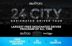 24-City Designated Driver Tour provides free rides for 24-cities over 12 months, with a new city every other week