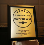 EVA Air has earned 5-Stars from global airline quality ratings organization SKYTRAX, becoming one of only eight carriers worldwide recognized for meeting the highest standards.