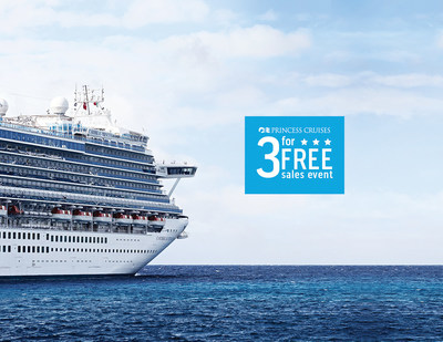 Princess Cruises announces the Three For Free Sales Event.