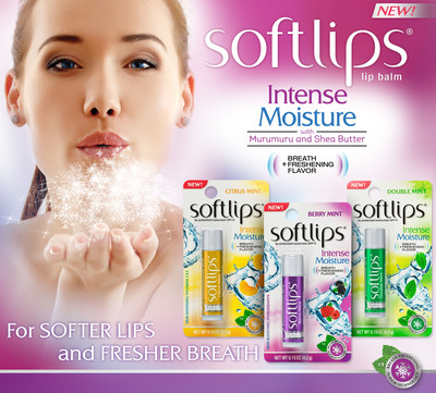 Introducing Softlips® Intense Moisture with Breath Freshening Flavor Technology
