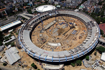 Photo courtesy of 2014 Rio Maracana Consortium.  For the 2014 Rio Maracana Consortium, which is in charge of the modernization of Maracana Stadium, the selection of Otis to supply elevators and escalators was based on our technical and commercial relations, and Otis' commitment to fulfill all project requirements, including quality, energy performance and reliability, in addition to their commitment to meet project deadlines.  (PRNewsFoto/Otis Elevator Company, 2014 Rio Maracana Consortium)