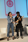 NEW YORK, NY - MAY 19:  Singer-songwriter Charli XCX and musician Nile Rodgers perform on stage at the MixRadio iOS and Android launch event at 404 on May 19, 2015 in New York City.  (Photo by Brad Barket/Getty Images for MixRadio)