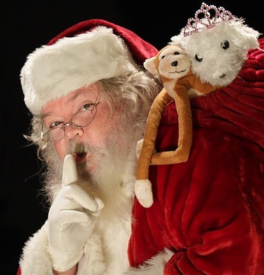 With Rosy Cheeks and a Twinkle in His Eyes Santa Geoff Is Ready for the Holiday Season