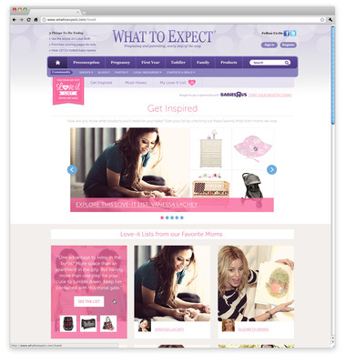 "WhatToExpect.com and Babies""R""Us Launch ""Love-it Lists"" To Help Expectant Parents Create a Dream Baby Registry.  (PRNewsFoto/Everyday Health, Inc.)"