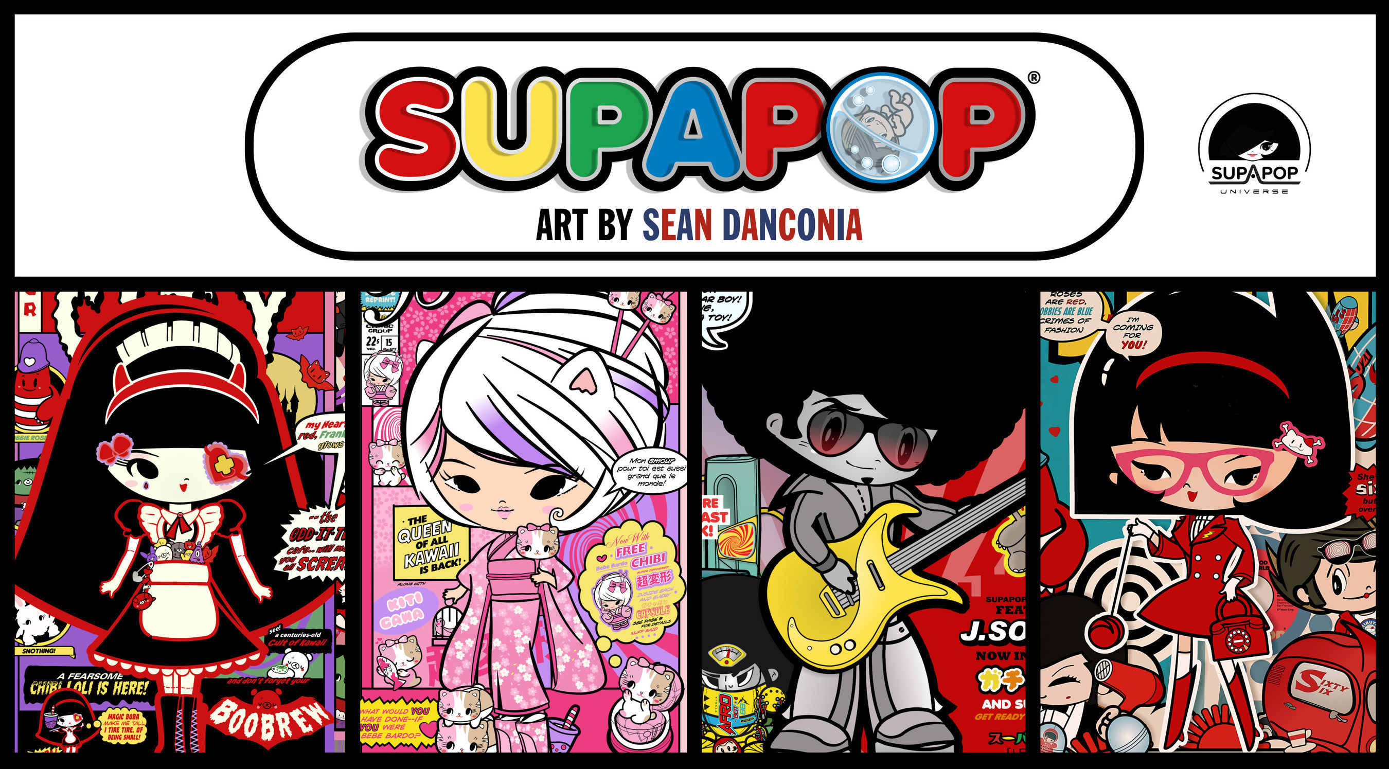 SupaPop by Sean Danconia featuring Loli Pop, Bebe Bardo, J.Soul 7 and Suzi Sixty-6