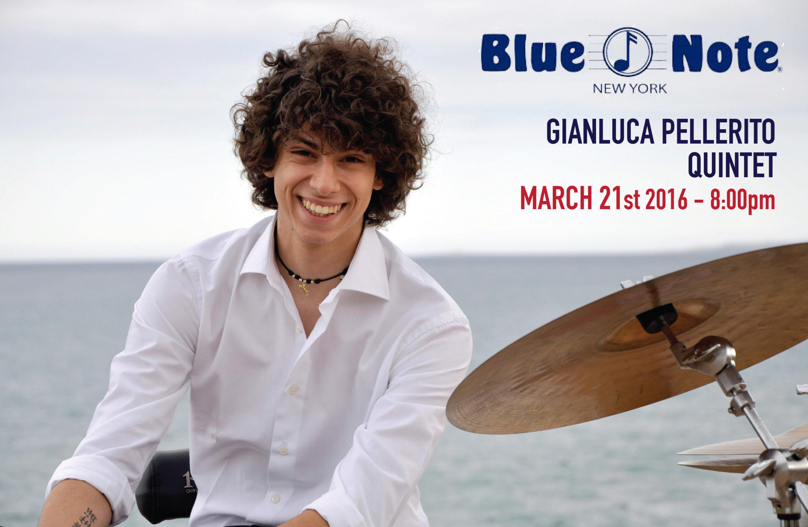 Gianluca Pellerito Quintet al Blue Note di New York il 21 marzo