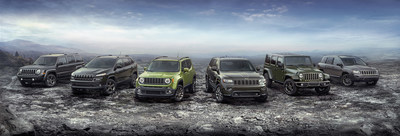 2016 Jeep(R) 75th Anniversary edition complete model lineup