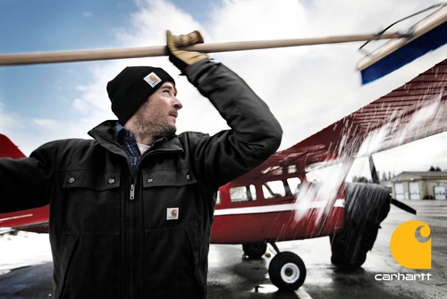Carhartt Launches Alaska Campaign Featuring a Bush Pilot and Dog Musher.  (PRNewsFoto/Carhartt)